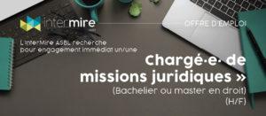 L'InterMire recrute un/une chargé·e· de missions juridiques